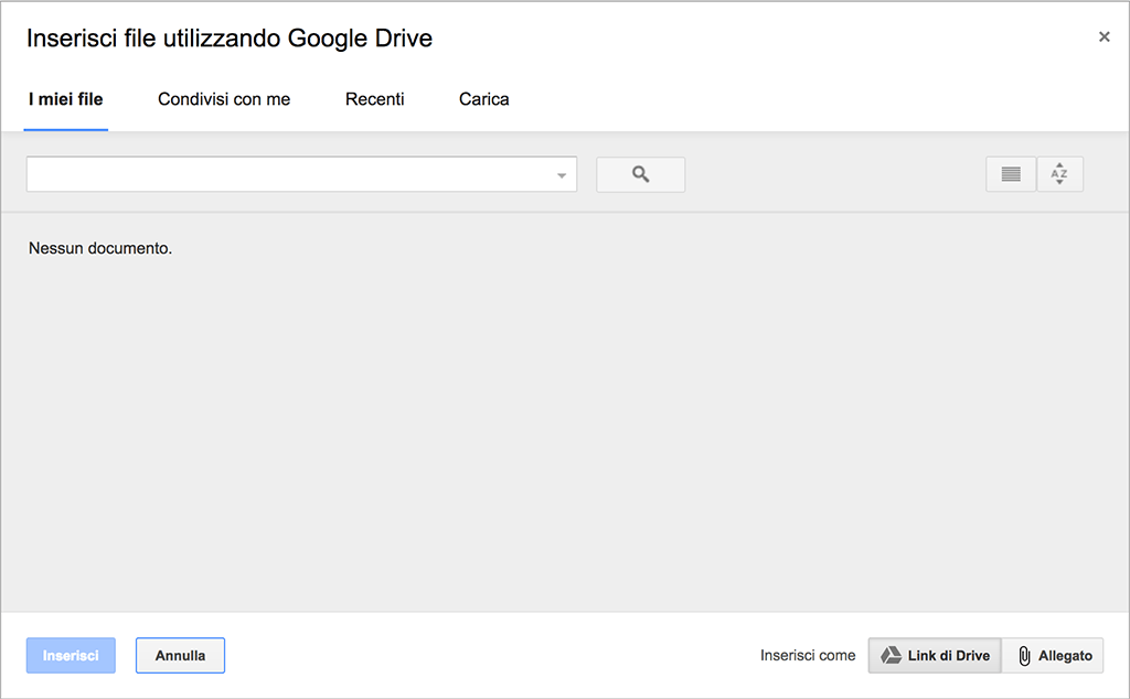 gmail google drive inviare files grandi