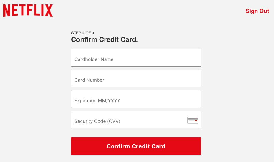 phishing netflix carta credito