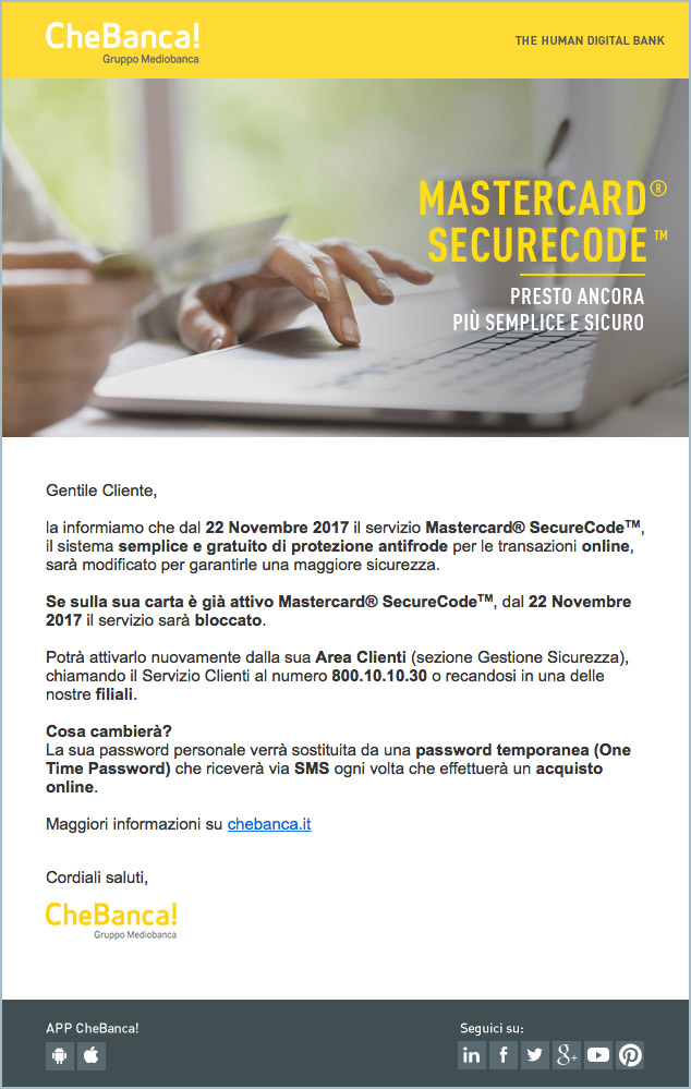 email chebanca reale
