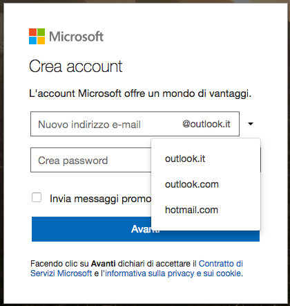 come creare mail outlook