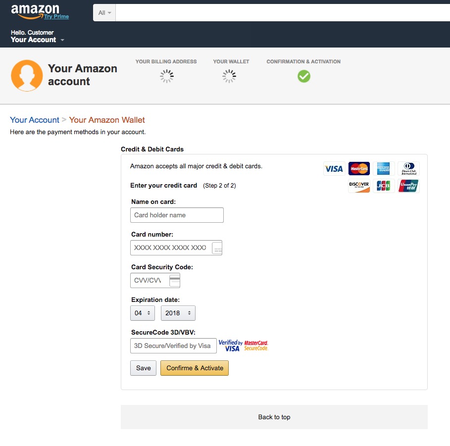 amazon phishing sito falso