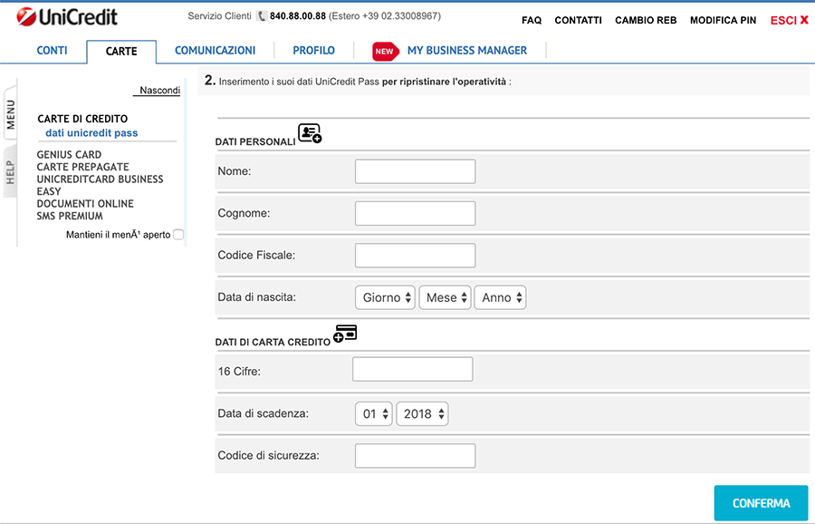unicredit phishing