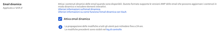 email dinamiche gmail