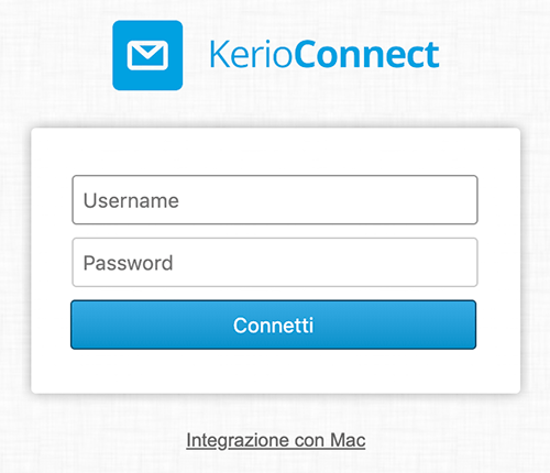 kerio connect login