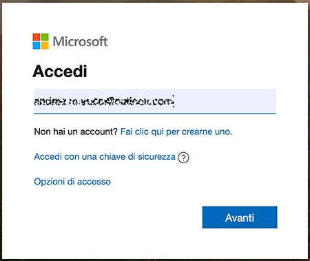 accesso a outlook