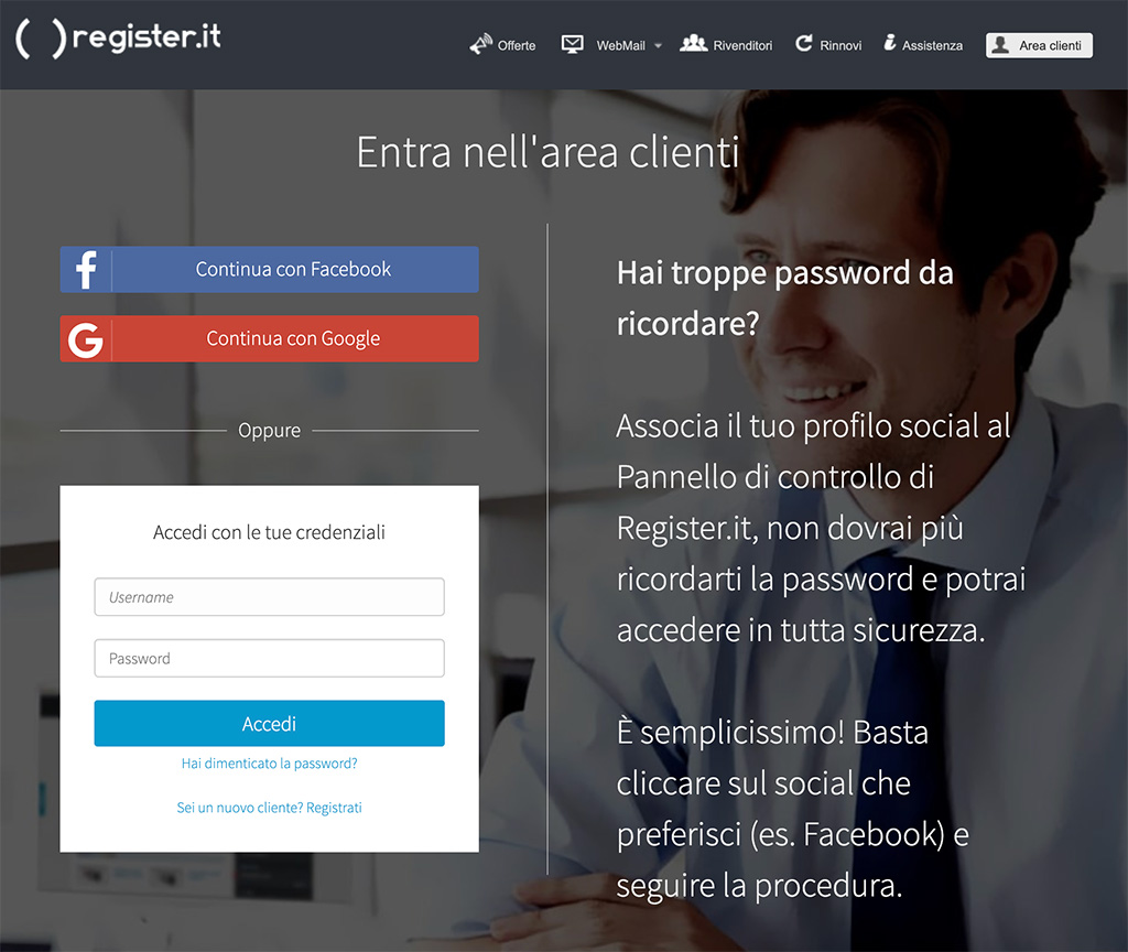 login falso di register